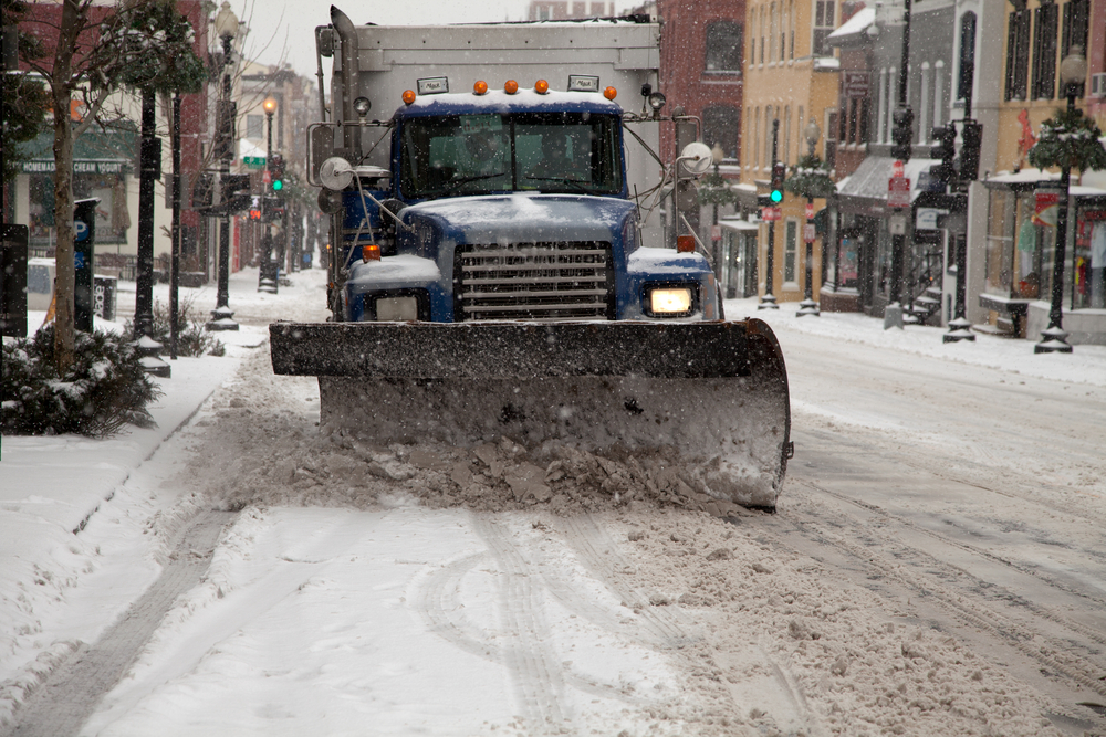 safe travel this winter_snow plow